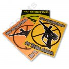 """YZ4012A 3 Paintball Field Park Posters """"NO SHOOTING IN THIS AREA"""" flourescent laminated"""
