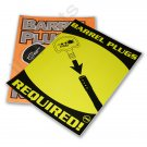 """YZ4011A 2 Paintball Field Park Posters """"BARREL PLUGS REQUIRED"""" flourescent laminated NEW"""