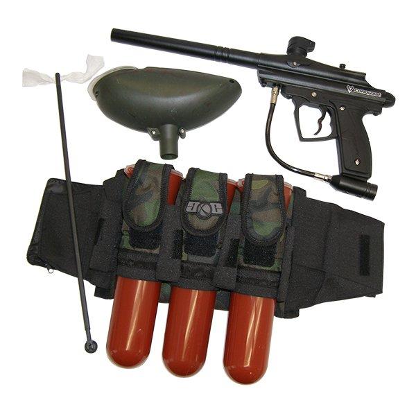 XP7805P-BLK Conqu3st Mechanical Paintball Gun Set Harness Loader Squeegee conquest spyder