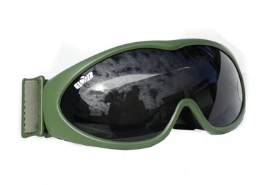 YG0001A-OLV  GXG Deluxe Airsoft Goggles OD Olive Green Frames + Smoke Polycarbonate Lens