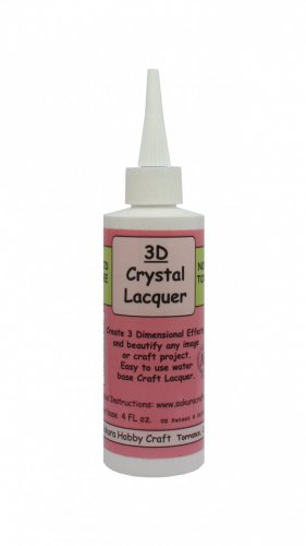 YZ0113A  Sakura 3D Crystal Clear Acrylic Lacquer 4oz 01844