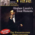 VD7298A 1950s Walter Cronkite You Are There TV Abraham Lincoln's Greatest Moments DVD