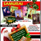 VD9904P  Sueyoshi Samurai Gift Set 5 DVDs + Art of War, Samurai T-Shirt, Tanto $195 Value