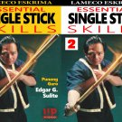 VD5148P  2 DVD Set Lameco Eskrima Essential Single Stick Skills Martial Arts Edgar Sulite