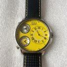 CC-BT CLASSIC-YEL-SS  Curtis & Co Big Time Classic 54mm 3-Time Stainless Steel Yellow Watch  NO BOX