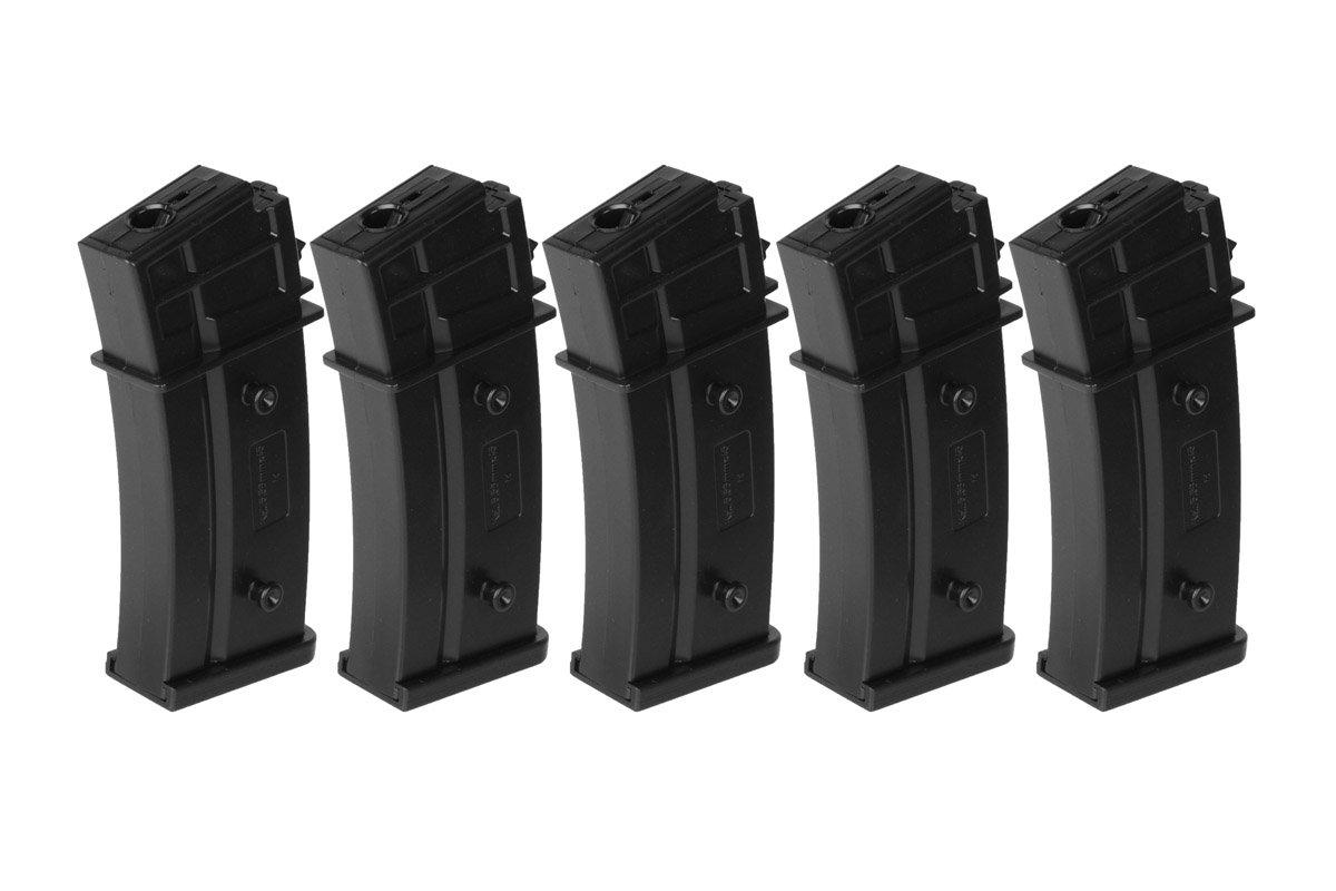 XA5020A-M  Umarex Elite Force Airsoft H&K G36 G36C 5 pak Mid-Cap Magazines Heckler & Koch
