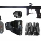 DXP0010P  Pro Tournament Eclipse GTek Paintball Gun Set HPA tank, goggles, loader, harness