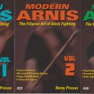 VD5532P   3 DVD Set Modern Arnis Filipino Stick Fighting empty hands, weapons Remy Presas