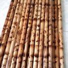 "WF0526A(10)  10 Rattan Camouflage Burn Filipino Eskrima Kali Arnis 28"" Sticks BULK LOT no skin"