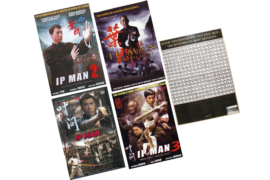 VD9905P  IP Man Wing Chun 4 DVD Movies + 108 Wooden Dummy Poster $120 Value