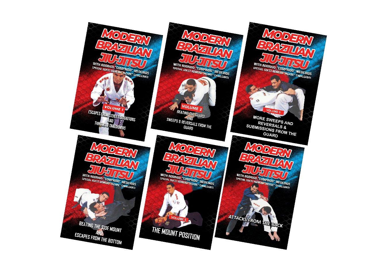 VD5223P  6 DVD SET Modern Brazilian Jiu Jitsu Champ Medeiros escapes sweeps guard mount