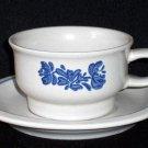 4 PFALTZGRAFF Stoneware YORKTOWNE Cups & Saucers USA