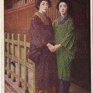 Vintage JAPAN Japanese Postcard GEISHA Hand in Hand #EG24