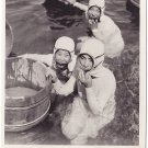 Vintage JAPAN Japanese Postcard AMA Sea Pearl Divers Diving #EG60