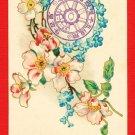 Antique JAPAN Japanese Art Postcard Flowers Railway Commemoration 1906 #EA127