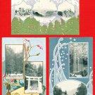 Lot of 3 Antique JAPAN Japanese Art Postcard Mountain Shrine Fall #EA130