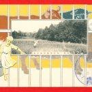 1911 JAPAN Japanese Silver Embossed Postcard Dairy Farming Cow Sheep Pig #EA153