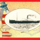JAPAN Japanese Postcard N.Y.K. NIPPON YUSEN KAISHA S.S. Ship FUSHIMI MARU #EOA35
