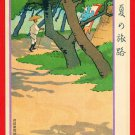 JAPAN Japanese Art Postcard KOKKEI SHINBUN Journey in Summer Shaved Ice Shop #EAK36