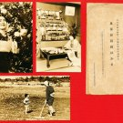 Set of 3 Japanese RPPC Real Photo Postcards w/ Folder WWII Home Front Women #EM115