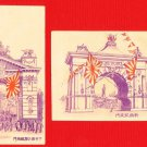 Lot of 2 JAPAN Postcard Russo Japanese War Triumphal Arch in Tokyo #EC69