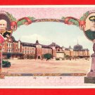 Vintage JAPAN Japanese Postcard Tokyo Railroad Station #EO30