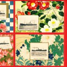 "Set of 4 JAPAN Japanese Postcards N.Y.K. NIPPON YUSEN KAISHA S.S. ""KASUGAI MARU"" Ship #EOA47"