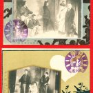 Lot of 2 Antique JAPAN Japanese Postcards Theatrical Company Play Drama  #EO23