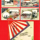 Set of 4 JAPAN Japanese Postcards w/ Folder Army Maneuvers in 1919 Emperor TAISHO #EM166