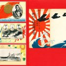 Set of 3 JAPAN Japanese Postcards w/ Folder Navy Naval Review in 1927 Emperor SHOWA #EM186