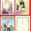Set of 3 JAPAN Japanese Advertising Art Postcards w/ Folder Family Magazine Pre-WWII #EOA52