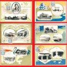 1926 Set of 6 JAPAN Japanese Art Nouveau Postcards Prince Taisho Emperor Showa Hiroshima #EE21