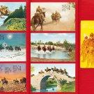 Set of 6 JAPAN Japanese Postcards w/ Folder WWII Army Cavalry Horse #EM201