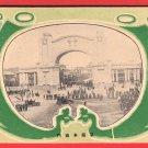 1915 JAPAN Japanese Art Deco Postcard Taisho Exhibition Welcome Gate #EOE18