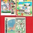 1929 Set of 5 JAPAN Japanese Art Postcards Folder Industrial Exhibition in Hiroshima #EOE19