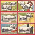 1914 Set of 10 JAPAN Japanese Art Deco Postcards Folder Tokyo Taisho Exhibition #EOE20