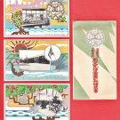 1917 Set of 3 JAPAN Japanese Art Deco Postcards w/ Folder Industrial School #EO32
