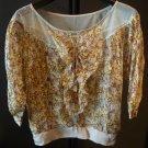 Ladies Thai silk 100% floral blouse  SMALL