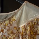 Ladies Thai silk 100% floral blouse  LARGE