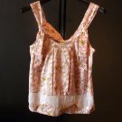 Ladies pink cotton tank top MEDIUM