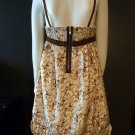 Ladies thai silk print  babydoll dress LARGE