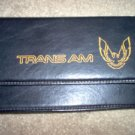 Trans Am Firebird Map Dash Pouch Black Leather