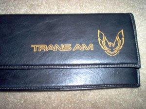 Trans Am Firebird Map Dash Pouch Black Leather