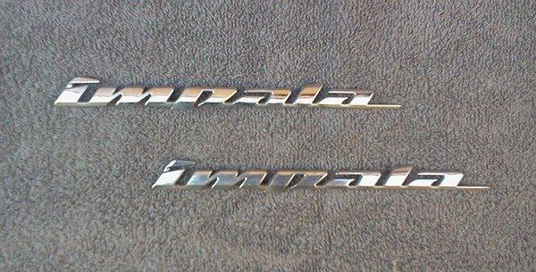 OEM Chevy Impala Body/Dash Emblem. 19.6cm