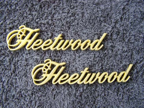 OEM GOLD Cadillac Fleetwood Body/Dash Emblems