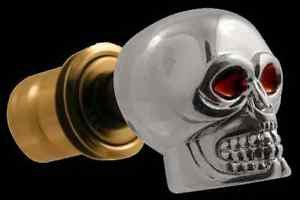 Chrome Skull Car Cigarette Lighter