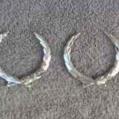 OEM  Cadillac Wreath Body/Dash Emblems - Silver, EXCELLENT Condition