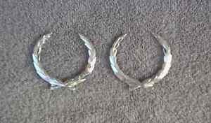 OEM  Cadillac Wreath Body/Dash Emblems - Silver, EXCELLENT Condition