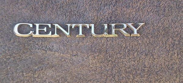 OEM Buick Century Body/Dash Emblem. Type 3