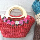26211-ruchworked flower bags with wood holder